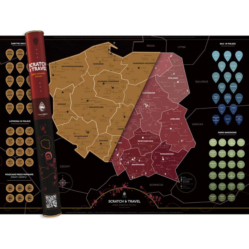Mapa Zdrapka POLSKA Scratch&Travel
