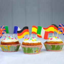 Muffinki z flagami państw
