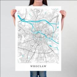 WROCŁAW - plakat mapa...