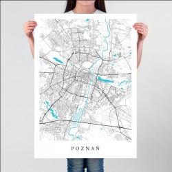 POZNAŃ - plakat mapa Poznania