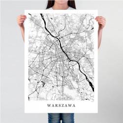 Mapa Warszawy plakat