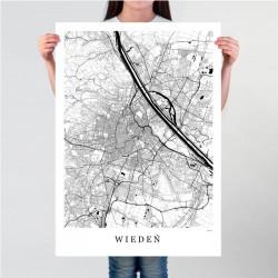 WIEDEŃ -  plakat mapa Wiednia