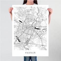 Poznań - mapa Poznania plakat